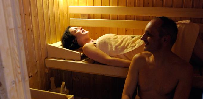 Le sauna de la Villa des Pins